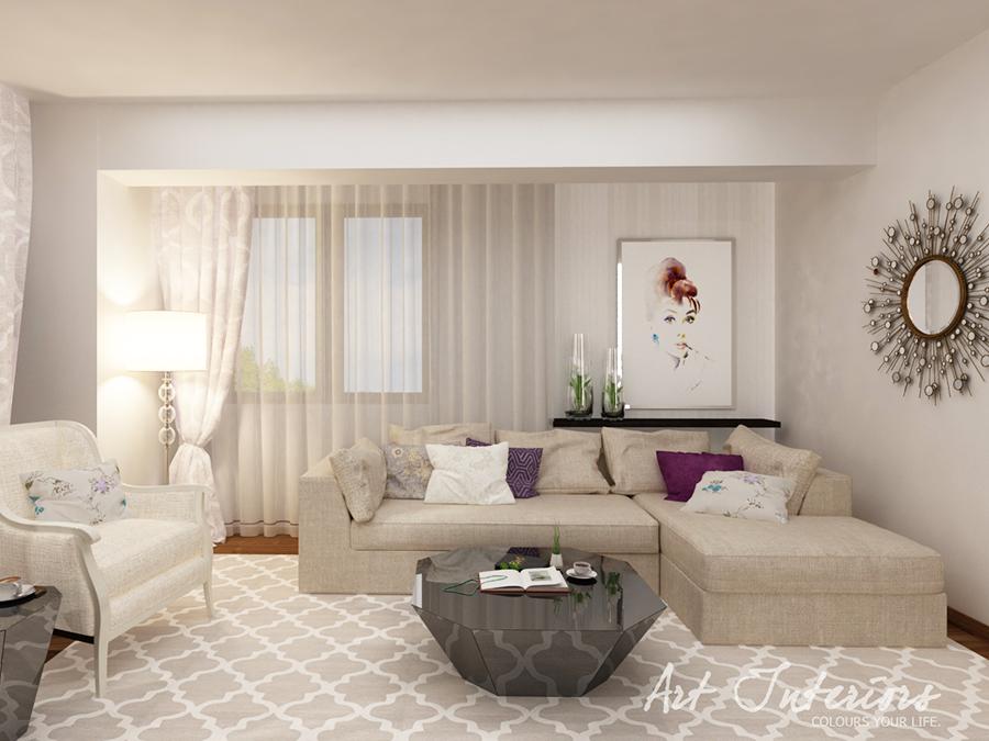 Apartament pentru A: living