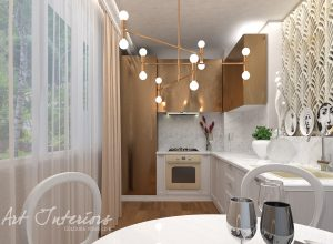 Bucatarie gold apartament D&M - Alexandra Nicula Interior Designer